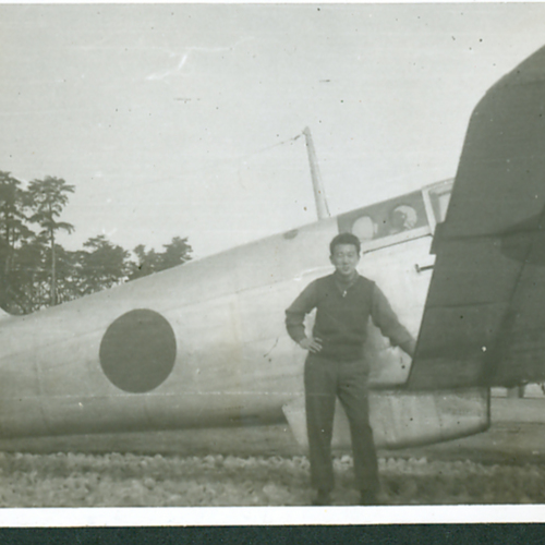 MIS Soldier and a plane