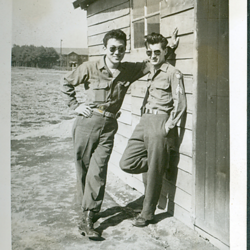 Two soldiers in sunglasses