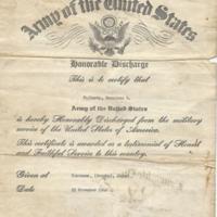 Honorable Discharge Certificate, Masakazu Fujimoto