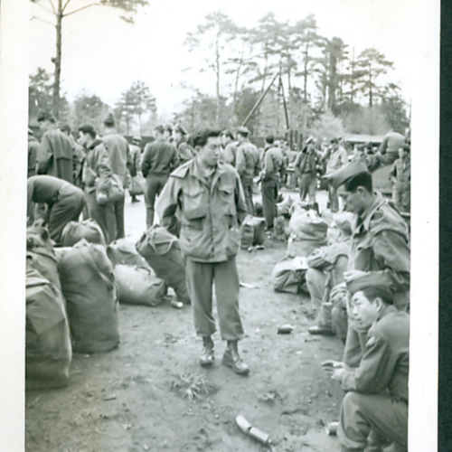 Soldiers at camp