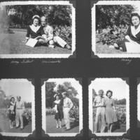 Gilbert T. Tanji album page 6. Gilbert and Mary Tanji, Harry Fukahara