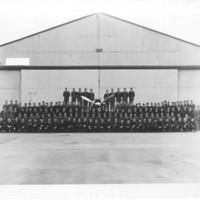 Gilbert T. Tanji album page 77. Group photograph at [Anacostia] Air Base