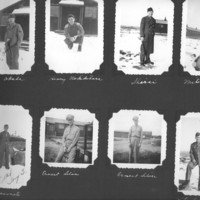 Gilbert T. Tanji album, page 14. Casual portraits of Japanese American and Caucasian soldiers