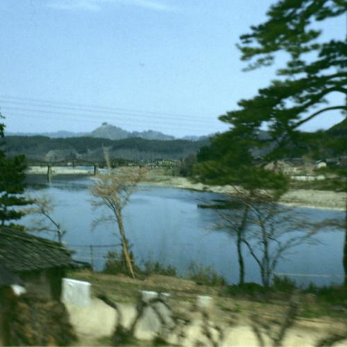 Blurry village