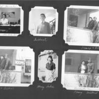 Gilbert T. Tanji album page 48. Glen Lake Sanatorium dietitian, Mary and Gilbert Tanji in Rochester, Minnesota