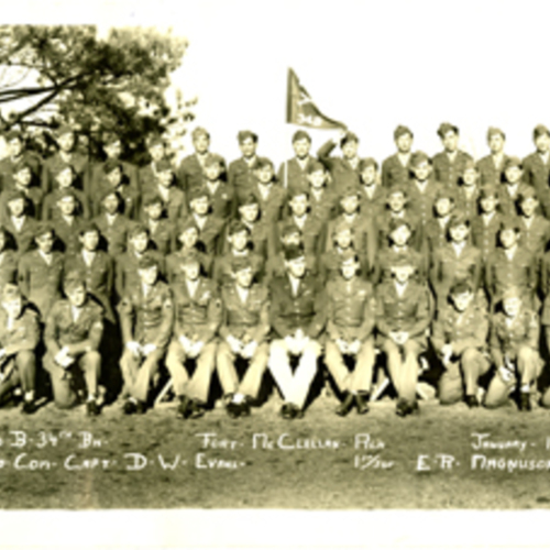 34th Infantry Division, Company B Fort McClellan Training Camp Panoramic