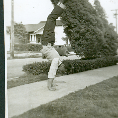 George doing a handstand