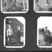 Gilbert T. Tanji album page 37. Japanese American soldiers, casual portraits in uniform
