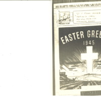 "V-Mail, ""Easter Greetings, 1945"" to T/5 S. Ozima from Geo. [George] Ozaki, March 15, 1945"