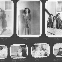 Gilbert T. Tanji album page 40. Family photographs in an American Concentration Camp