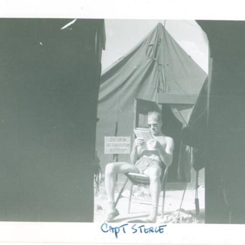 Capt. Sterle reading