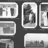 Gilbert T. Tanji album page 20.  Watanabe and Uno Wedding in Denver