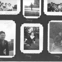 Gilbert T. Tanji album page 46.  Mary Tanji and other nurses