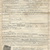 Enlisted Record and Report of Separation. Honorable Discharge, Masakazu Fujimoto