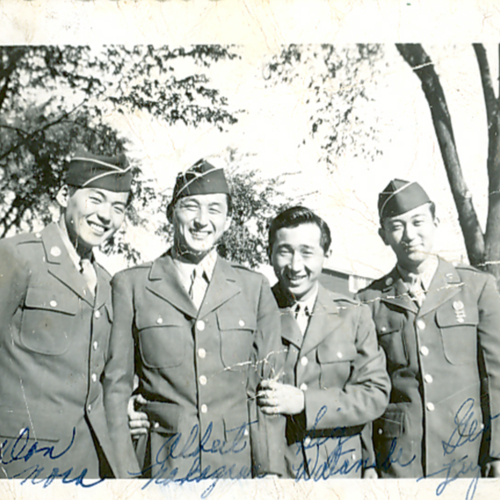 George and three other soldiers