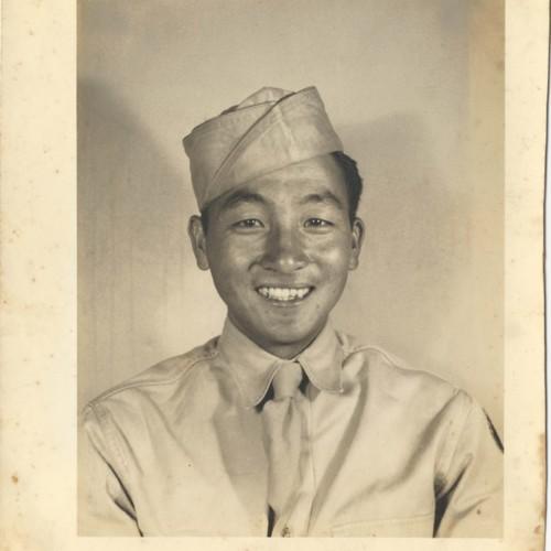 Army portrait of Sadamu Koito
