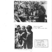 """Booklet page. """"Playing with Aleuts in Attu Island, June, July, and August 1942"""""""