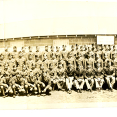 Company D Panoramic at Fort Snelling Training Camp