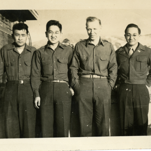 Tsutomu and three other soldiers