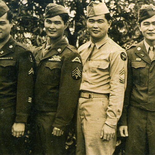 Walter Oka and three other soldiers