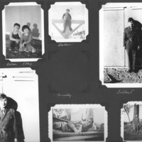 Gilbert T. Tanji album page 34. Tanji family and Japanese American soldiers