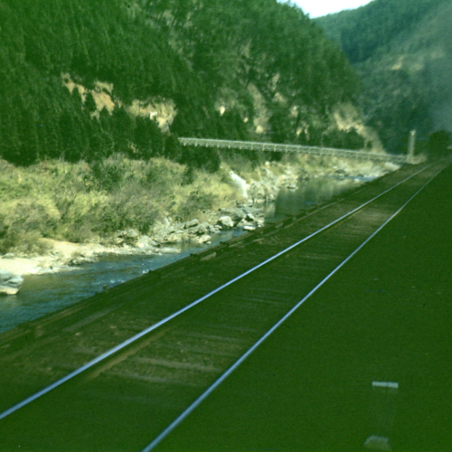 Railroad by the river