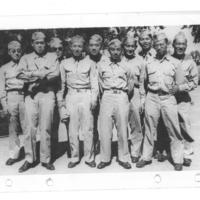 Gilbert T. Tanji album page 72. Japanese American soldiers