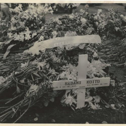 Sadamu Koito military grave marker
