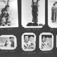 Gilbert T. Tanji album page 39. Family photographs in an American Concentration Camp