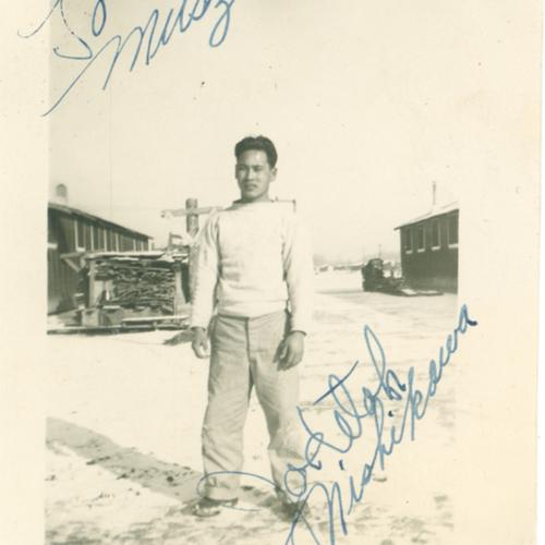 Joseph Nishikawa in the snow