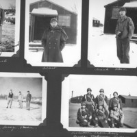 Gilbert T. Tanji album page 11. Japanese American soldiers at Camp Savage