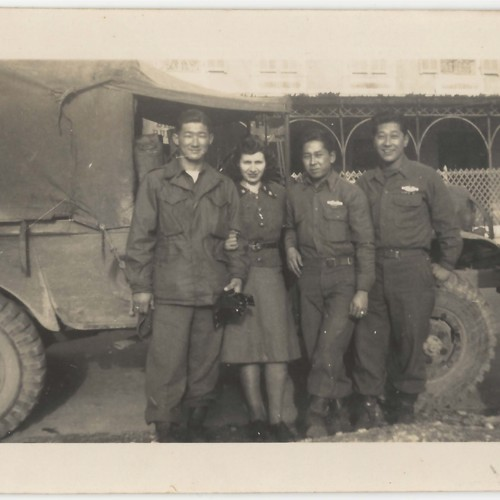 Japanese American soldiers and likely Women's Army Corps personnel