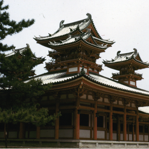 Pagoda temple surrounded by trees